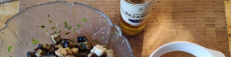 Auberginensalat mit Sesampaste (nach Elisabeth Raether)