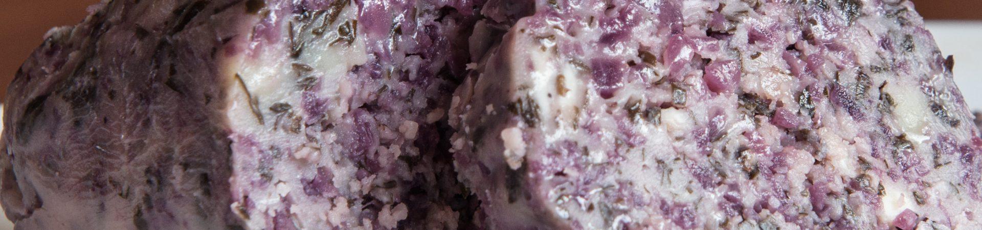 Rotweinbutter mit Schalotten / Beurre au vin rouge