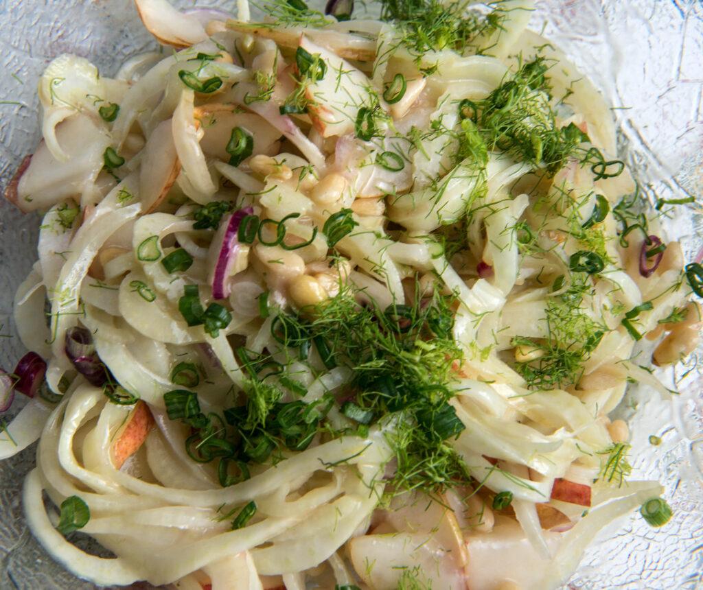 Fenchel-Birnen-Salat ohne Leber