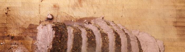 Kalbsbraten geschmort in malzigem Winterbier