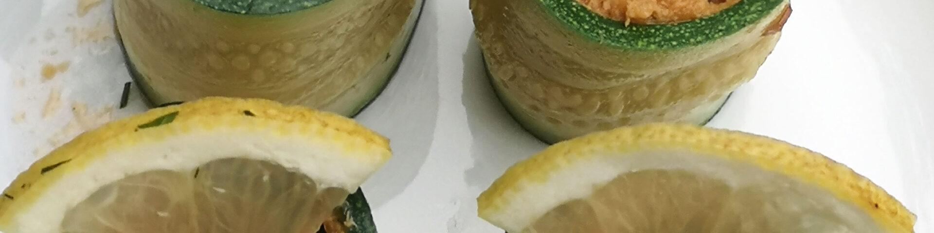 Zucchini-Sardinen-Röllchen als einfache Vorspeise